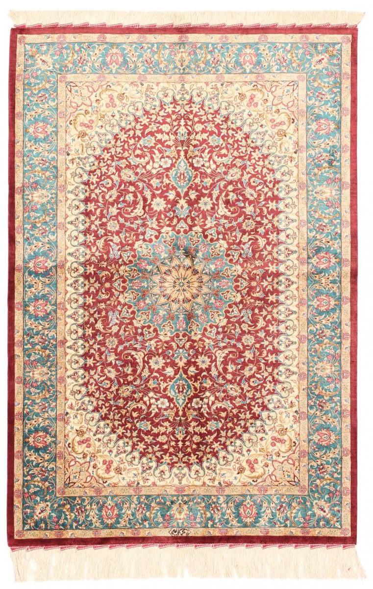 Persian silk carpet from Qom by Nain Trading, approx. 1.000.000 knots/m2