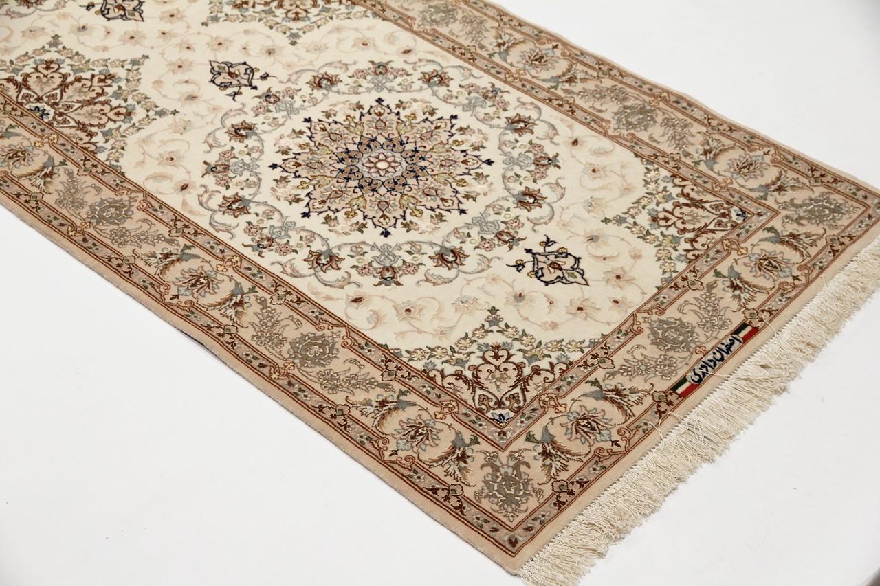 Isfahan Teppich von Davari signiert