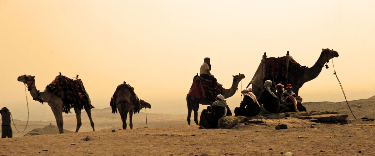 Nomads Caravan in the Desert