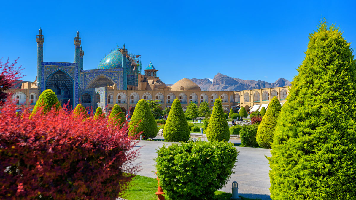 Central square in Isfahan, Iran