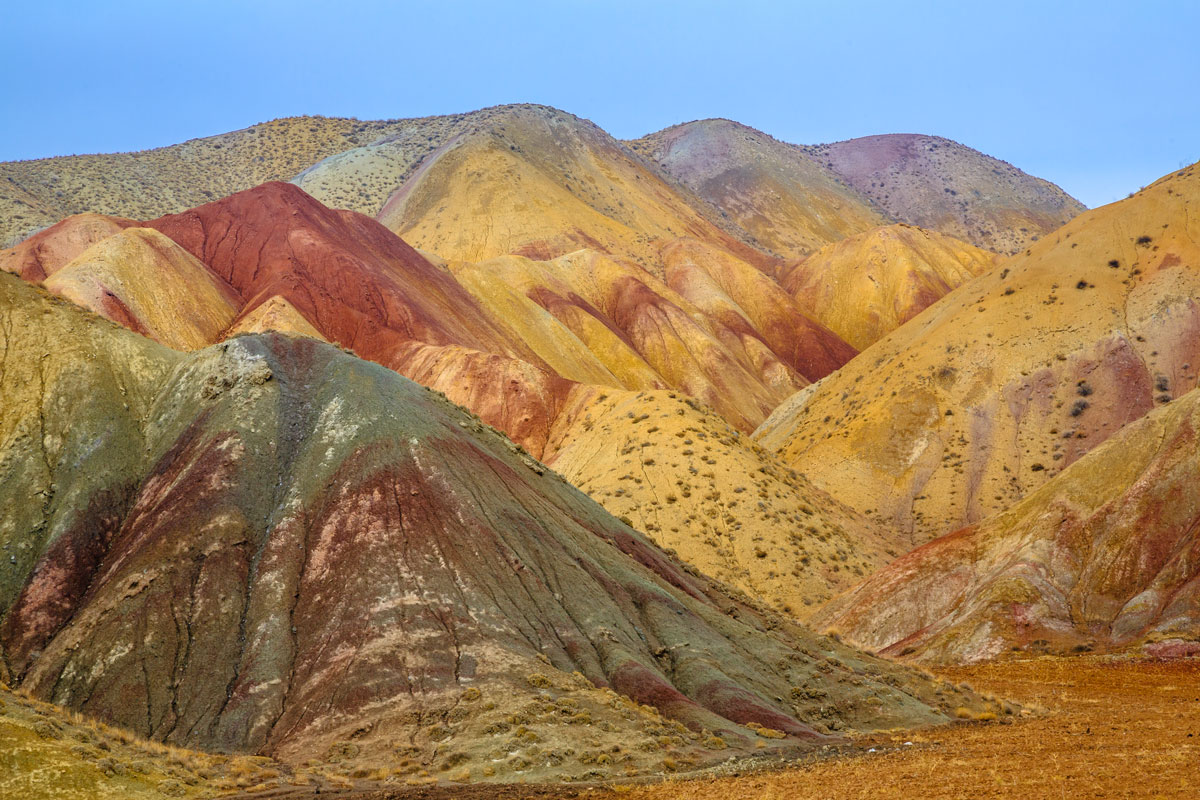 Colourful mountains near Tabriz, Iran