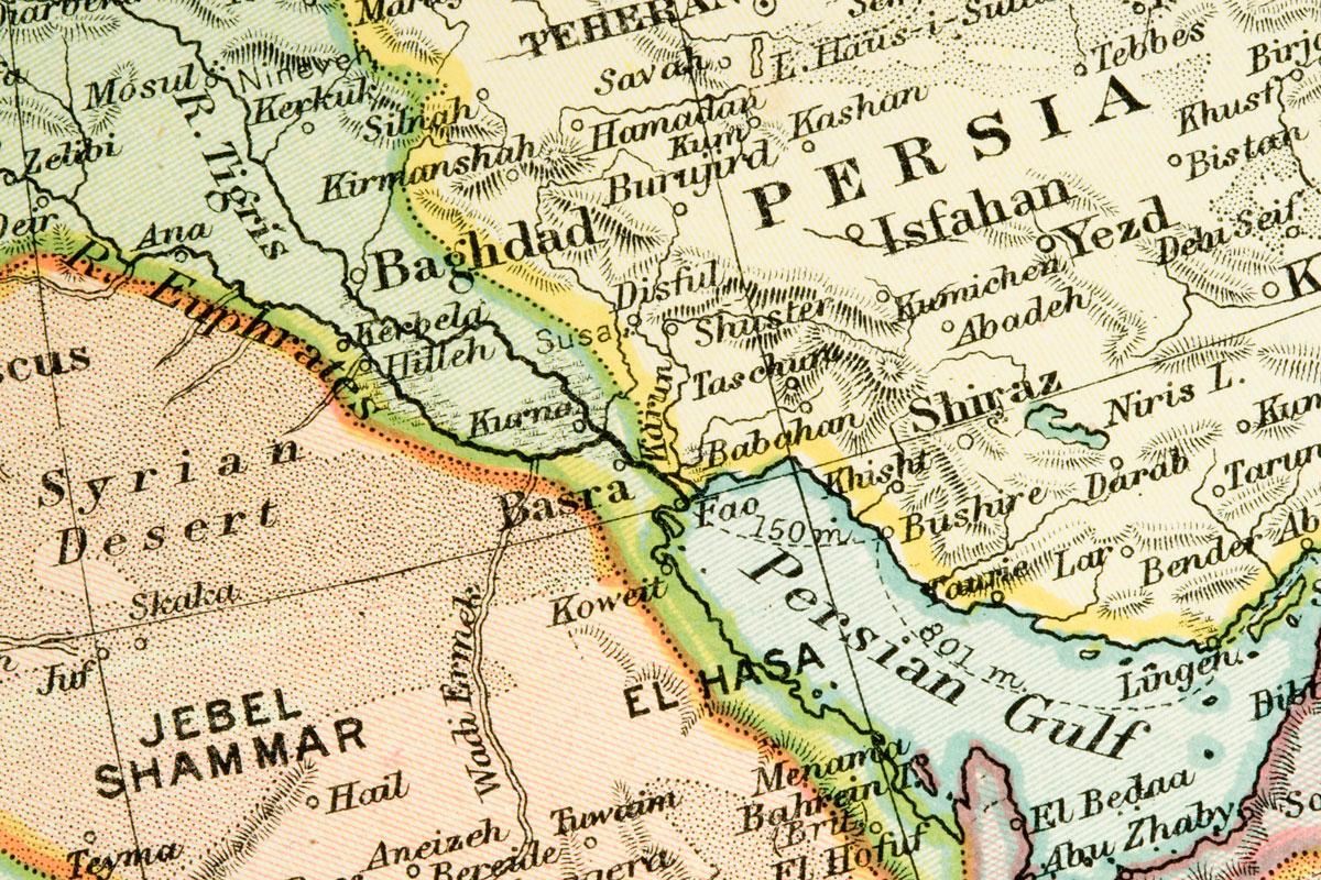 altes Persien Karte